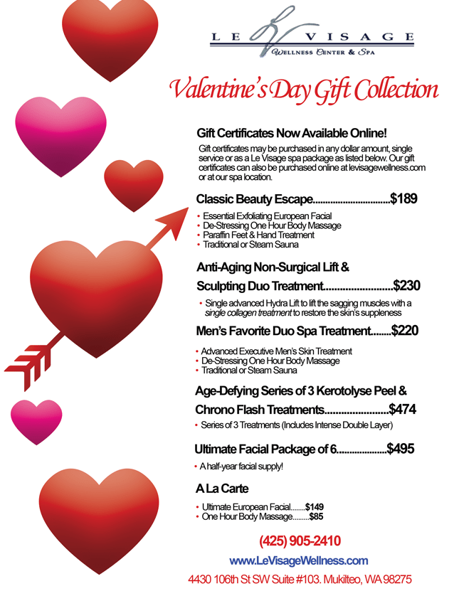 Valentine S Day Gift Collection Le Visage Wellness